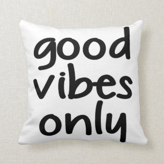 Good Vibes Only Decorative Throw Pillow