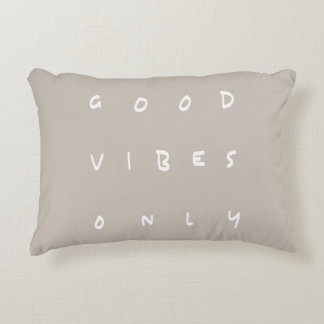 Good Vibes Only Earthy Customizable Uplifting Accent Pillow