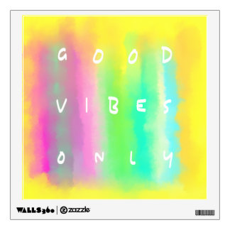 Good Vibes Only Inspirational Positivity Quote Wall Sticker