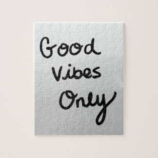 Good Vibes Only Jigsaw Puzzle
