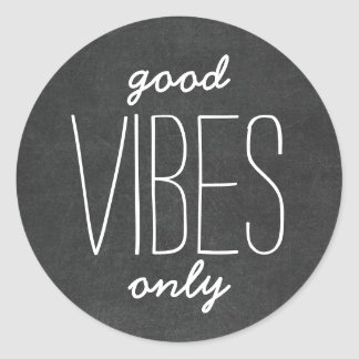 Good Vibes Only Motivational Chalkboard Stickers