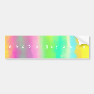 Good Vibes Only Positivity Inspiration Painting Bumper Sticker