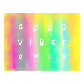 Good Vibes Only Positivity Inspiration Painting Postcard