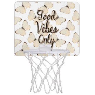 Good Vibes Only Quote, Butterfly Pattern Mini Basketball Hoop