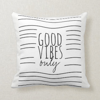 good vibes only quote pillow modern chic