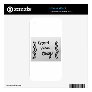 Good Vibes Only Skin For The iPhone 4S