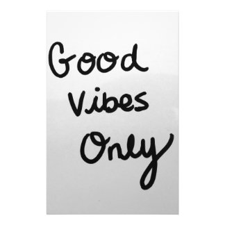 Good Vibes Only Stationery