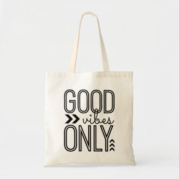 imtraciwithani Good Vibes Only Tote Bag