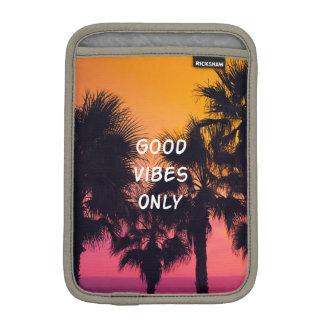 """Good Vibes Only""  Tropical Beach Palms Sunset iPad Mini Sleeve"