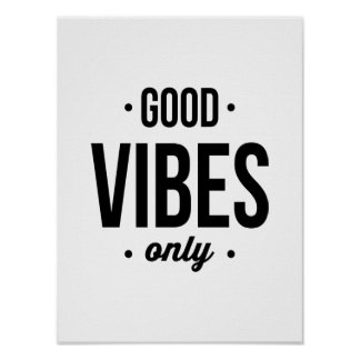 Good Vibes Only typography poster art print