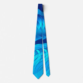 Good Vibes Only Whirl (blue) Neck Tie