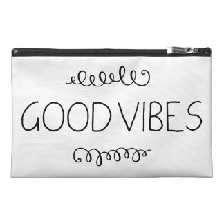 Good Vibes Ornament Black And White (Customizable) Travel Accessory Bag