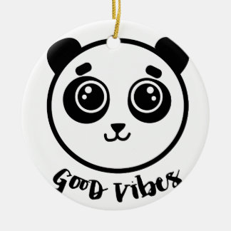 Good Vibes Panda Ceramic Ornament