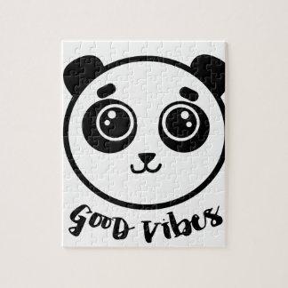 Good Vibes Panda Jigsaw Puzzle