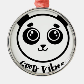 Good Vibes Panda Metal Ornament