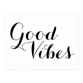 Good Vibes Positive Message Motivational Quote Postcard