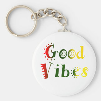 Good Vibes Rasta Color Keychain