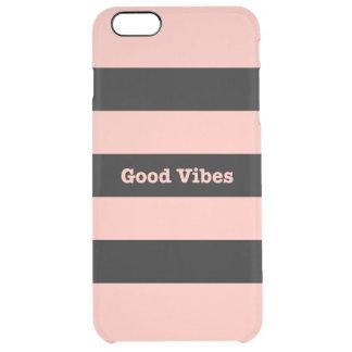 Good Vibes Rose Gold iPhone 6s Plus 6 Plus Custom Clear iPhone 6 Plus Case