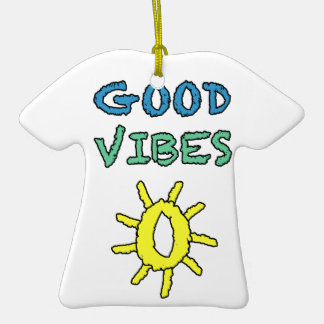 Good Vibes South West Sun Double-Sided T-Shirt Ceramic Christmas Ornament
