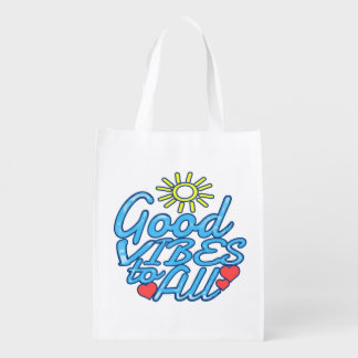 Good Vibes to All Grocery Bag