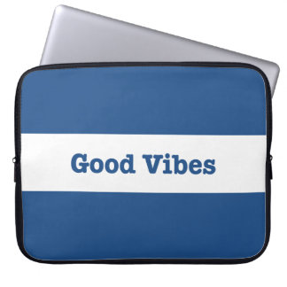 Good Vibes White Band Stripe (Choose Your Color) Laptop Sleeve