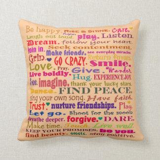 good vibrations pillow square