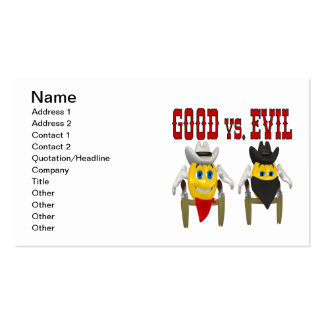 Good vs Evil Double-Sided Standard Business Cards (Pack Of 100)