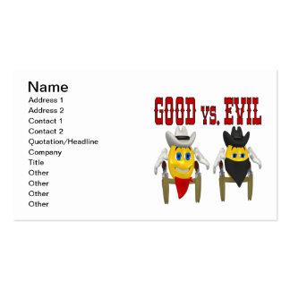 Good vs Evil Business Cards