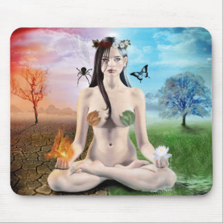 Good vs Evil- Goth Goddess Mouse Pad