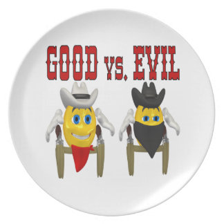 Good vs Evil Party Plate