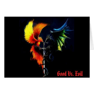 Good Vs. Evil - Products designed by Mystic Moon D Greeting Card
