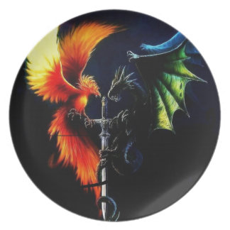 Good Vs. Evil - Products designed by Mystic Moon D Dinner Plate