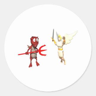 Good vs Evil Classic Round Sticker