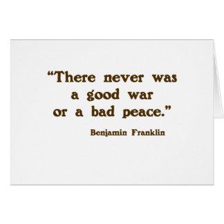 Good War, Bad Peace Card