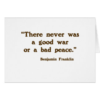 Good War, Bad Peace Greeting Cards