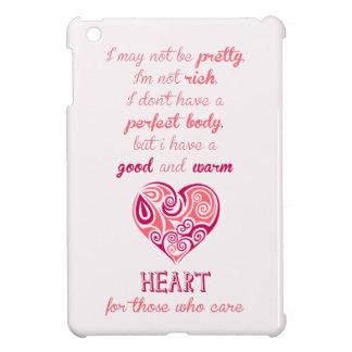 Good warm heart quote pink tribal tattoo girly iPad mini cases
