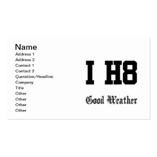 good weather business card