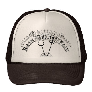 Good Weather Vintage Barometer Scale  Hat