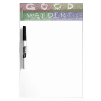 Good Wet Dirt 'Tailgate Talk' Dry-Erase Board