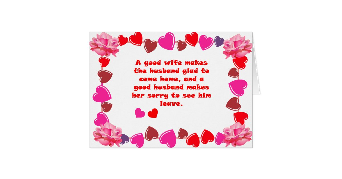 Good Wife Good Husband Quotes Greeting Card | Zazzle.com