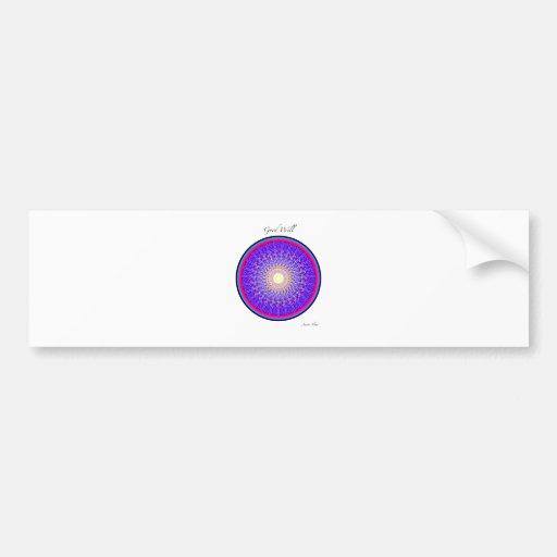 Good Will Mandala Car Bumper Sticker