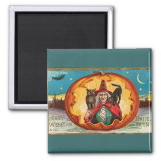 Good Wishes For Halloween 2 Inch Square Magnet
