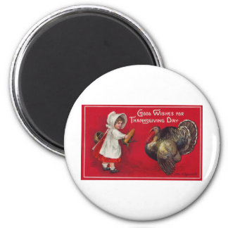 Good Wishes for Thanksgiving Day 2 Inch Round Magnet