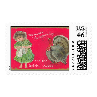 Good Wishes for Thanksgiving Postage