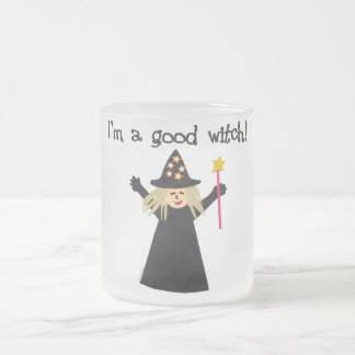Good Witch 10 Oz Frosted Glass Coffee Mug
