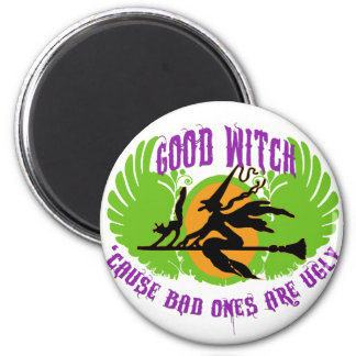 Good Witch 2 Inch Round Magnet