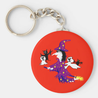 Good witch and her friends key chain