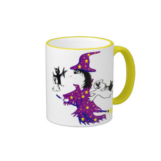 Good witch and her friends ringer mug