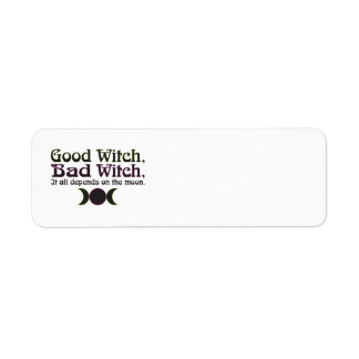 """""""Good Witch, Bad Witch..."""" Address Labels"""