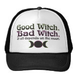 """Good Witch, Bad Witch..."" Caps Mesh Hats"